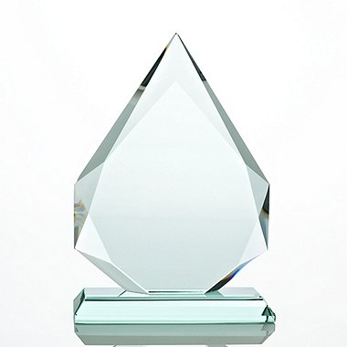 Premium Jade Trophy - Beveled Flame