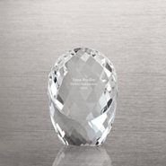 Radiant Crystal Paperweight - Oval