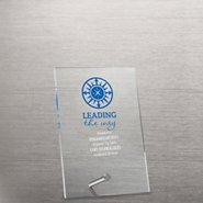 Mini Acrylic Award Plaque - Compass: Leading the Way