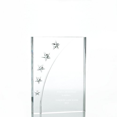 Rectangle Star Acrylic Trophy