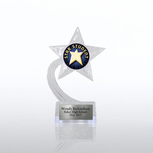 Student Shooting Star Acrylic Trophy