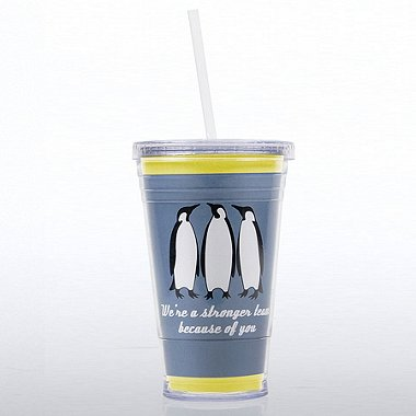 Twist Top Tumbler - Penguin: Stronger Team Because of You