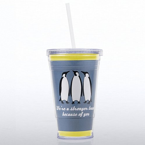 Penguin: Stronger Team Because of You Twist Top Tumbler