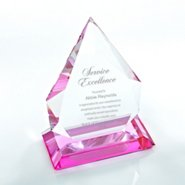 Color Splash Crystal Trophy - Pink