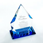 Color Splash Crystal Trophy - Blue