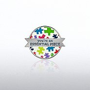 Lapel Pin - Essential Piece - Puzzle Pieces