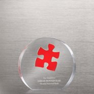 Embedded Medallion Trophy - Essential Piece Red