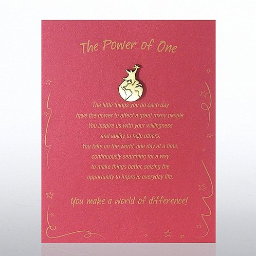 Power of One: You Make a World of Difference Character Pin
