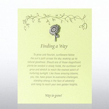 Character Pin - Sunflower: Finding a Way