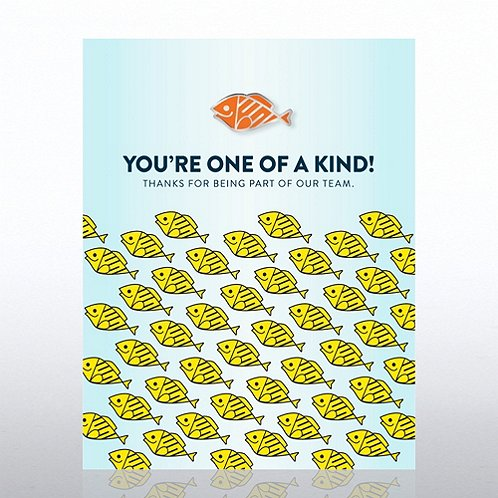 You're One of a Kind! Fish Character Pin