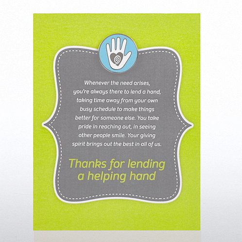 Helping Hand - Full Color Character Pin