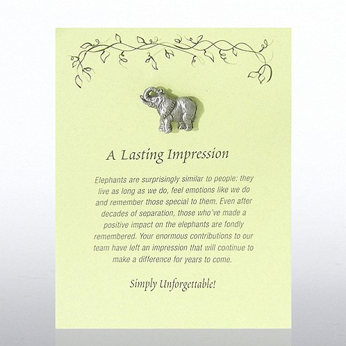 Elephant: A Lasting Impression Character Pin