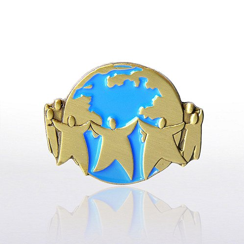 Team World Lapel Pin