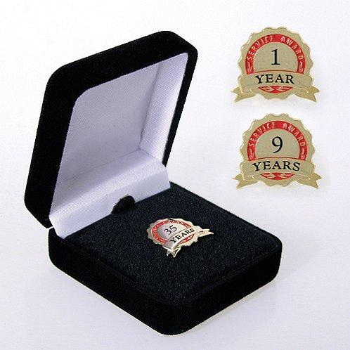 Service Award Ribbon Anniversary Lapel Pin