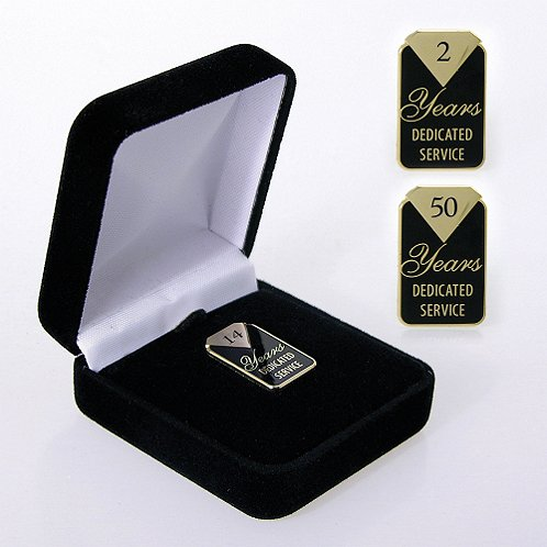 Dedicated Service Anniversary Lapel Pin