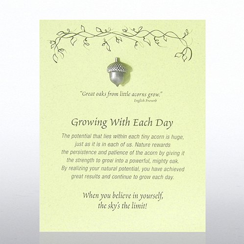 Acorn: Growing With Each Day Character Pin