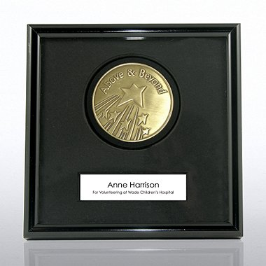 Framed Medallion - Above and Beyond