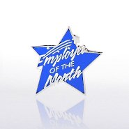 Lapel Pin - Employee of the Month - Multi Color