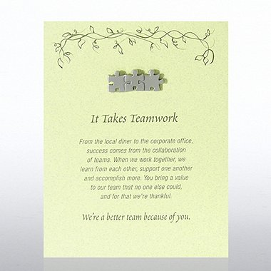 Character Pin - It Takes Teamwork - Green Card