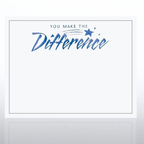 You Make The Difference Foil White Certificate Paper At