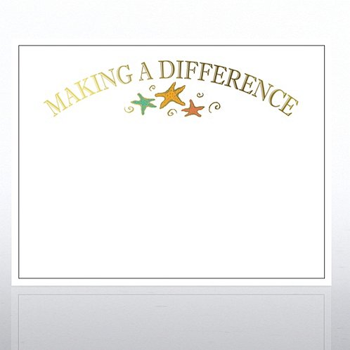 Making a Difference Golden Character White Certificates