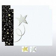 Black Tie Foil Certificate Paper