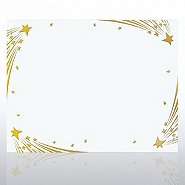 Foil Certificate Paper - Shooting Stars - White