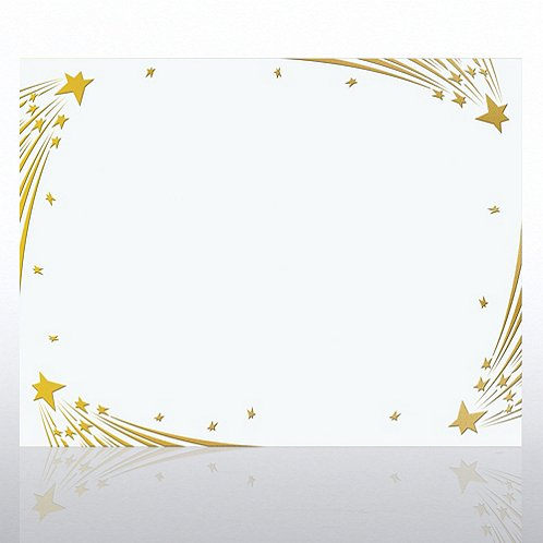 Shooting Stars Foil White Certificate Paper