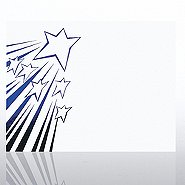 Foil Certificate Paper - Shooting Stars - White w/ Blue