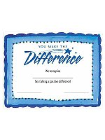 Fill-in-the-Blank Certificates - You Make the Difference Fun Border
