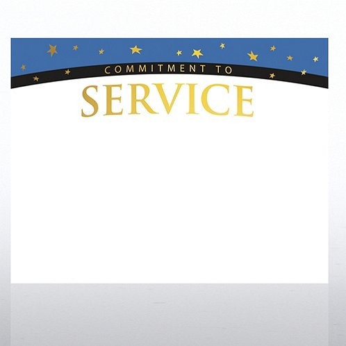 Commitment to Service Foil Certificate Paper