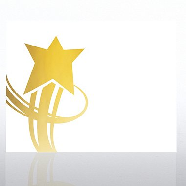 Foil Certificate Paper - Great Service Star - White