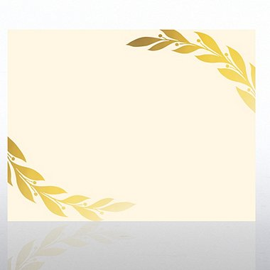Foil Certificate Paper - Grand Laurels - Cream