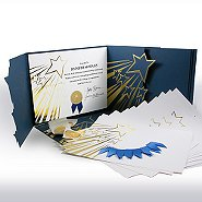 Certificate Paper Bundle - Shooting Stars