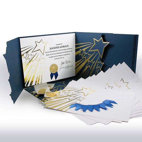 Shooting Stars Certificate Paper Bundle