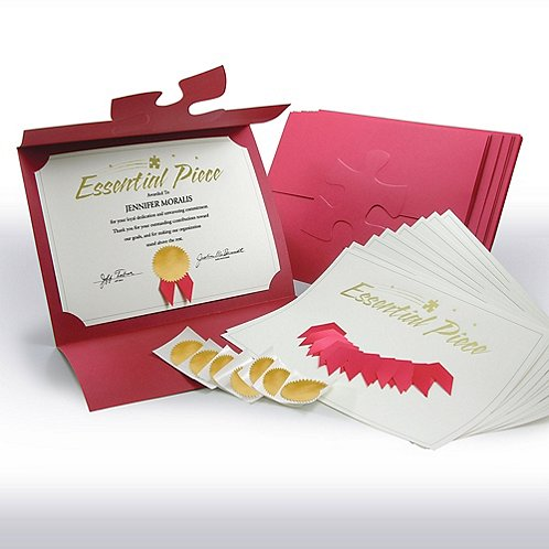 Essential Piece Certificate Paper Bundle