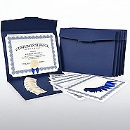Certificate Paper Bundle - Royal Blue Scallop