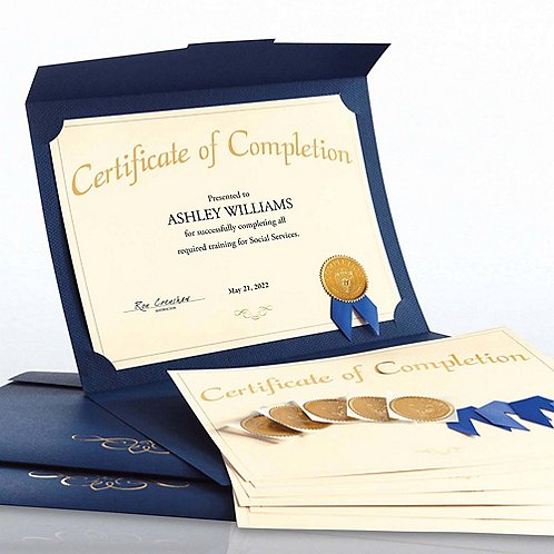Completion Certificate Paper Bundle