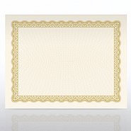 Certificate Paper - Official - Natural Parchment - Gold