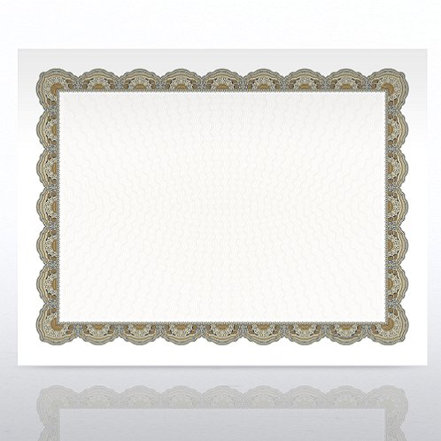 Regency Green/Gold Certificate Paper