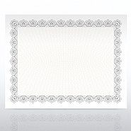 Certificate Paper - Scallop - Silver