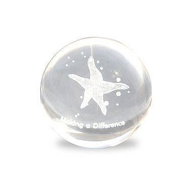 Mini Sphere Paperweight - Starfish: Making a Difference