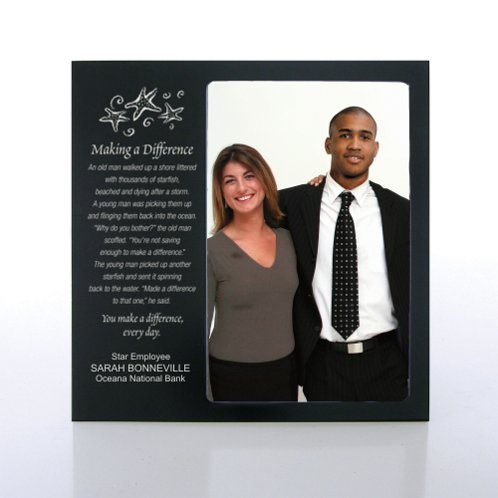 Black Engravable Photo Frame