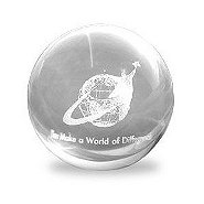 Mini Sphere Paperweight - You Make a World of Difference