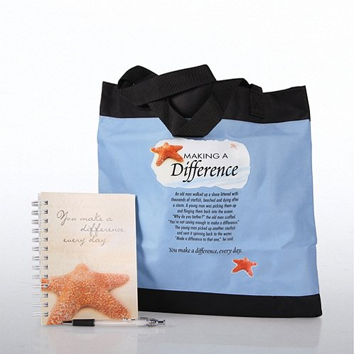 Starfish: Making a Difference Journal, Pen & Tote Gift Set