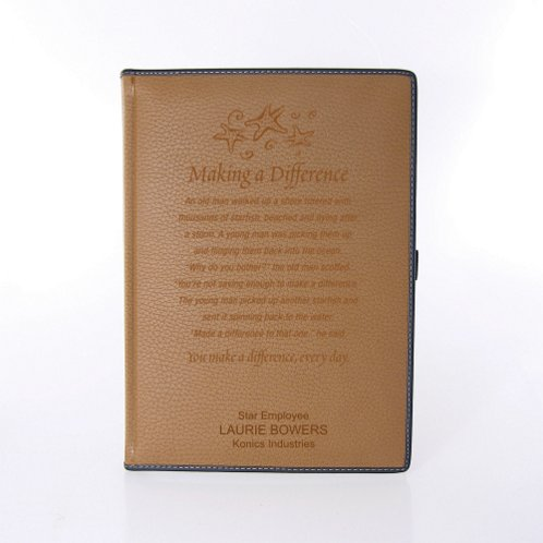 Khaki Textured Italian Leatherette Journal
