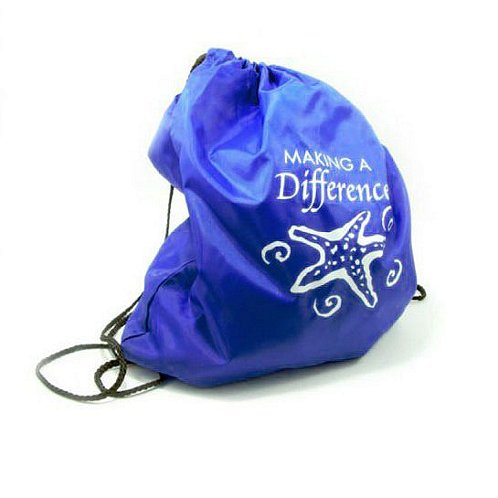 Starfish: Making a Difference Go Active Drawstring Tote