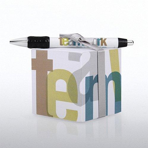 Teamwork Note Cube & Pen Gift Set