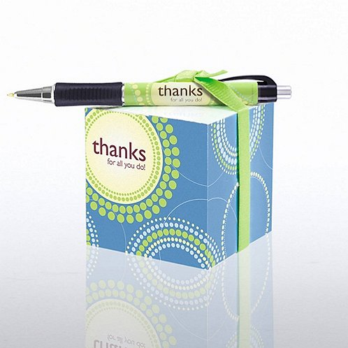 Thanks for All You Do! Note Cube & Pen Gift Set