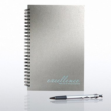 Foil-Stamped Journal & Pen Gift Set - Excellence